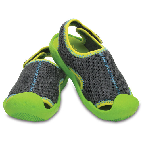 Crocs Swiftwater - Sandales Enfant - gris
